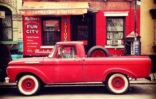 Fun City Tattoos Red Truck